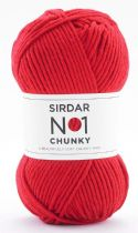 Sirdar No.1 Chunky 100g - 214 Pure Scarlet